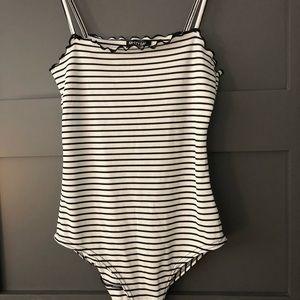 Nasty Gal Striped Bodysuit Size 4